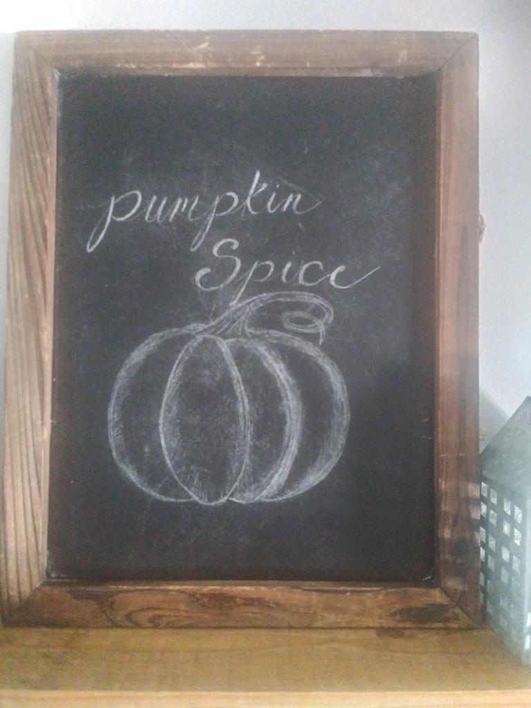 Chalkboard Pumpkin Spice.